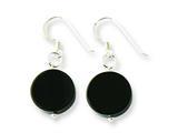Sterling Silver Black Agate Dangle Earrings style: QE7590