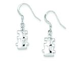 Sterling Silver Polished Cubic Zirconia Puzzle Pieces Dangle Earrings style: QE8793