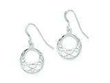 Sterling Silver Dangle With Cubic Zirconia Shepherd Hook Earrings style: QE9096