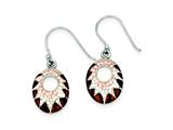 Sterling Silver Stellux Crystal Enameled Animal Print Dangle Earrings style: QE9314