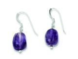 Sterling Silver Amethyst Earrings style: QE9741