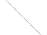 10 Inch Sterling Silver 2mm Rolo Chain Ankle Bracelet style: QFC1