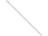 16 Inch Sterling Silver 4.75mm Fancy Rolo Chain Necklace style: QFC58