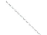 16 Inch Sterling Silver 4.0mm Rolo Chain Necklace style: QFC75