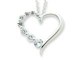 Sterling Silver Cubic Zirconia Heart Journey Necklace style: QG2639