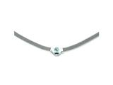 Sterling Silver Blue Topaz and Mesh Fancy Necklace style: QG940