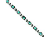 Sterling Silver Turquoise And Marcasite Bracelet style: QH1035