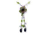 Sterling Silver Amethyst/lavender Quartz/peridot/blue Topaz Necklace style: QH2122