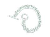 Sterling Silver 7.5inch Polished Fancy Circular Link Bracelet style: QH308