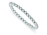 Sterling Silver Polished Bead Stretch Bracelet style: QH4944