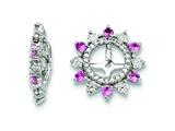 Sterling Silver Created Pink Sapphire Earring Jackets style: QJ105OCT
