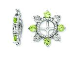 Sterling Silver Peridot Earring Jackets style: QJ110AUG