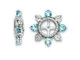Sterling Silver Swiss Blue Topaz Earring Jackets style: QJ110DEC