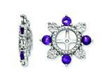 Sterling Silver Amethyst Earring Jackets style: QJ110FEB