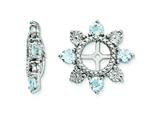 Sterling Silver Aquamarine Earring Jackets style: QJ110MAR