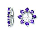 Sterling Silver Amethyst Earring Jackets style: QJ116FEB