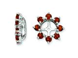 Sterling Silver Garnet Earring Jackets style: QJ116JAN