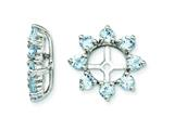 Sterling Silver Aquamarine Earring Jackets style: QJ116MAR