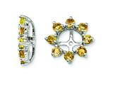 Sterling Silver Citrine Earring Jackets style: QJ116NOV