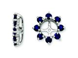 Sterling Silver Created Blue Sapphire Earring Jackets style: QJ116SEP