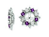 Sterling Silver Rhodolite Garnet Earring Jackets style: QJ120JUN