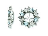 Sterling Silver Aquamarine Earring Jackets style: QJ120MAR