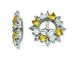 Sterling Silver Citrine Earring Jackets style: QJ120NOV