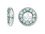 Sterling Silver Aquamarine Earring Jackets style: QJ124MAR
