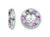 Sterling Silver Created Pink Sapphire Earring Jackets style: QJ124OCT