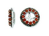 Sterling Silver Garnet and Black Sapphire Earring Jackets style: QJ125JAN