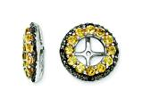Sterling Silver Citrine and Black Sapphire Earring Jackets style: QJ125NOV