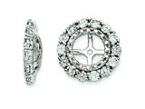 Sterling Silver White Topaz Earring Jackets style: QJ129APR