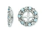Finejewelers Sterling Silver Aquamarine Earring Jackets style: QJ129MAR