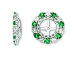 Sterling Silver Created Emerald Earring Jackets style: QJ129MAY