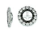 Sterling Silver White Topaz and Black Sapphire Earring Jackets style: QJ130APR