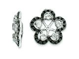 Sterling Silver White Topaz and Black Sapphire Earring Jackets style: QJ141APR