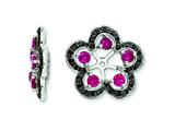 Sterling Silver Created Ruby and Black Sapphire Earring Jackets style: QJ141JUL