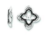 Sterling Silver Black Sapphire Earring Jackets style: QJ145