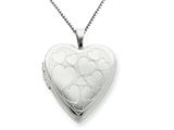 925 Sterling Silver 20mm with Floating Hearts Heart Locket Necklace - Chain Included style: QLS237