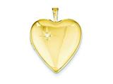 1/20 Gold Filled 20mm Diamond Heart Locket Necklace - Chain Included style: QLS275