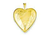 1/20 Gold Filled 20mm Side Swirled Heart Locket Necklace - Chain Included style: QLS282