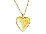 1/20 Gold Filled 20mm Diamond in Heart Forever Heart Locket Necklace - Chain Included style: QLS285
