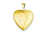 1/20 Gold Filled 16mm Satin and Polished Heart Locket Necklace - Chain Included style: QLS291