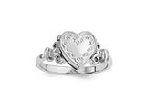 Finejewelers Sterling Silver Rhodium-plated 10mm Locket  Ring style: QLS588R