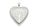 Finejewelers Sterling Silver 20mm Tree Heart Locket Pendant Necklace 18 inch chain included style: QLS783