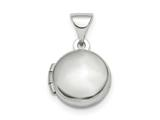 Finejewelers Sterling Silver Rhodium-plated Polished Domed 10mm Round Locket Pendant Necklace 18 inch chain included style: QLS839