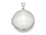 Finejewelers Sterling Silver Rhodium-plated Polished Domed 20mm Round Locket Pendant Necklace 18 inch chain included style: QLS841