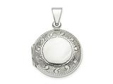 Finejewelers Sterling Silver Circle Locket Pendant Necklace 18 inch chain included style: QLS845