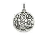 Finejewelers Sterling Silver Antiqued Filigree Locket Pendant Necklace Pendant 18 inch chain included style: QLS848