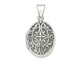 Finejewelers Sterling Silver Polished Filigree 17mm Oval Locket Pendant Necklace 18 inch chain included style: QLS852